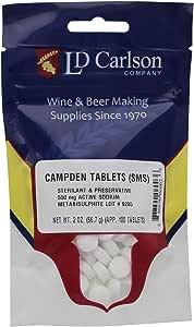 LD Carlson U5-S3UV-5KA7 Campden Tablets (sodium metabisulfite) - 2 Oz(100 Tablets), Varies