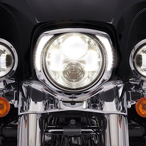 Fill Bezel (Ciro Fang LED Headlight Bezel Chrome for 2014-newer FLH 45200)
