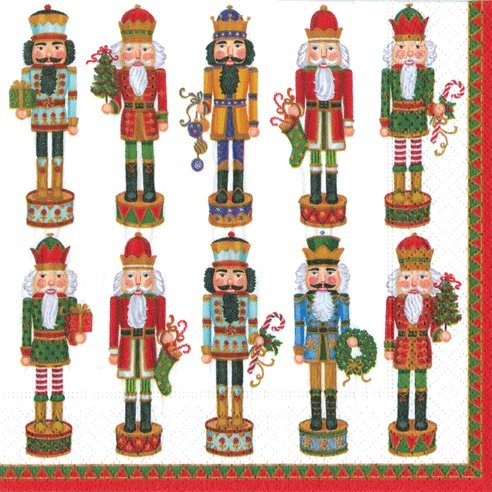 Christmas Lunch Napkins Paper Party Supplies Caspari Nutcracker 40 Count