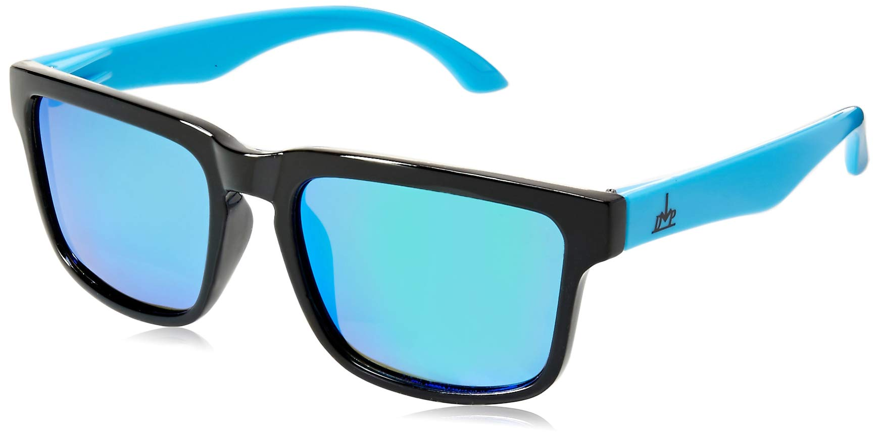 2878889a5b3f8 Vintage Blue Sunglasses Polarized Mirrored Lenses 80s Retro Design Neon  Colors Packaged in A Handmade Metal ...