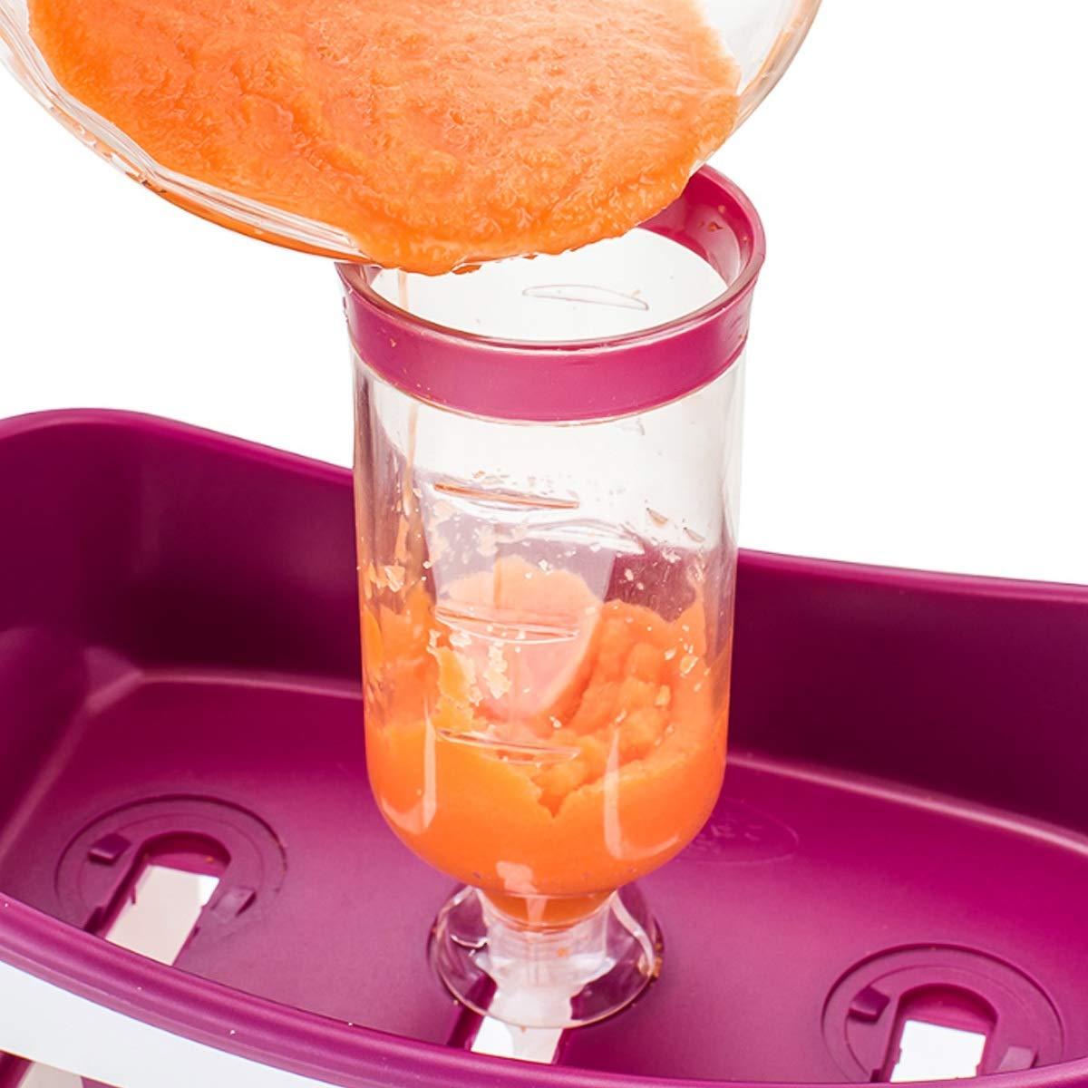 Estaci/ón de exprimido de jugos de Frutas Frescas Hechas en casa de Topsale-ycld Fabricante de Alimentos Infantiles para beb/és con Bolsas de Almacenamiento