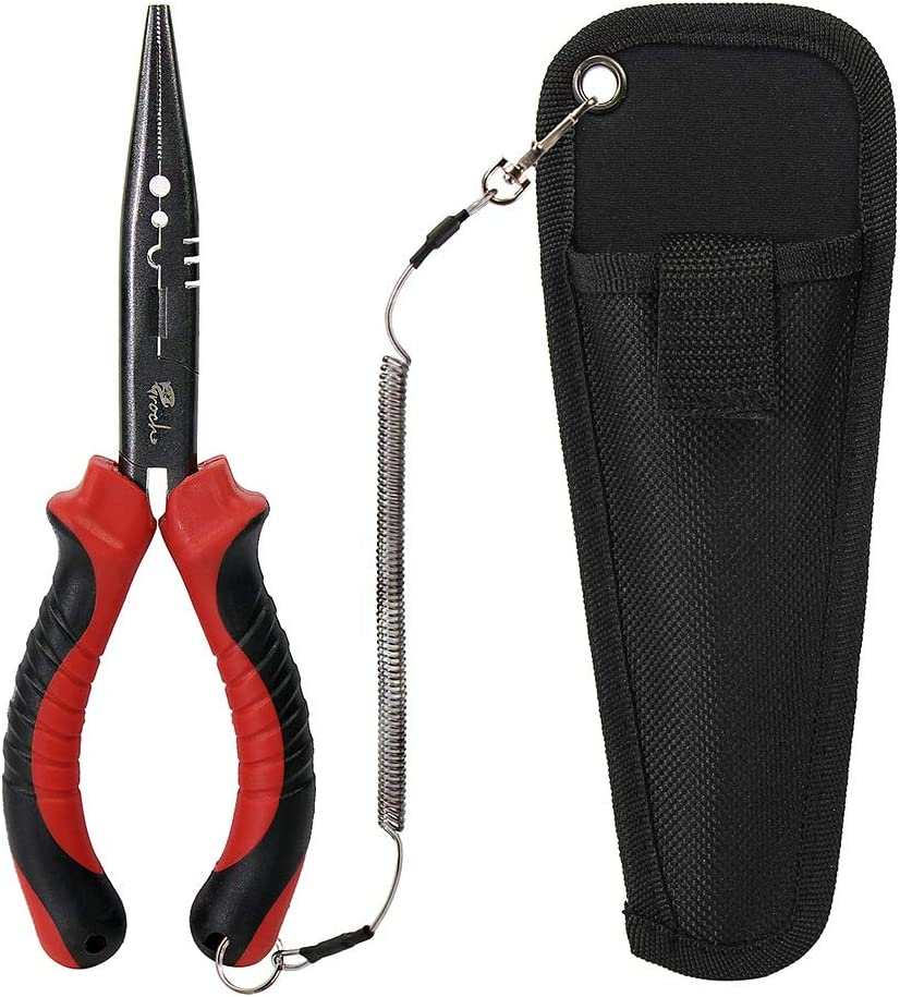 Hand Crimper Tools Stainless Steel Fishing Pliers Braid Cutters Hook Remover Fish Holder