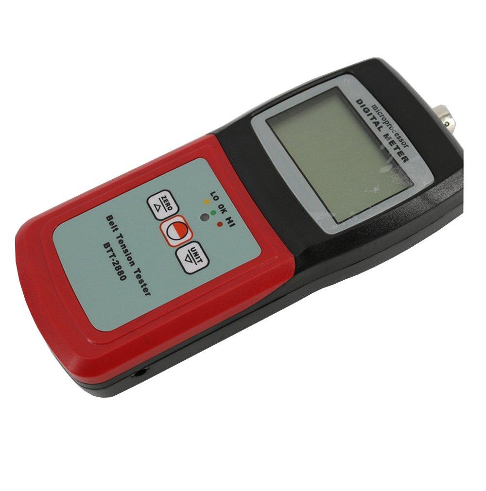 Amazon.com: CNYST Digital Belt Tension Tester Meter Handheld Belt Tension Measuring Gauge BTT-2880 with LCD Display 3 Tension Indication of High Low and OK: ...