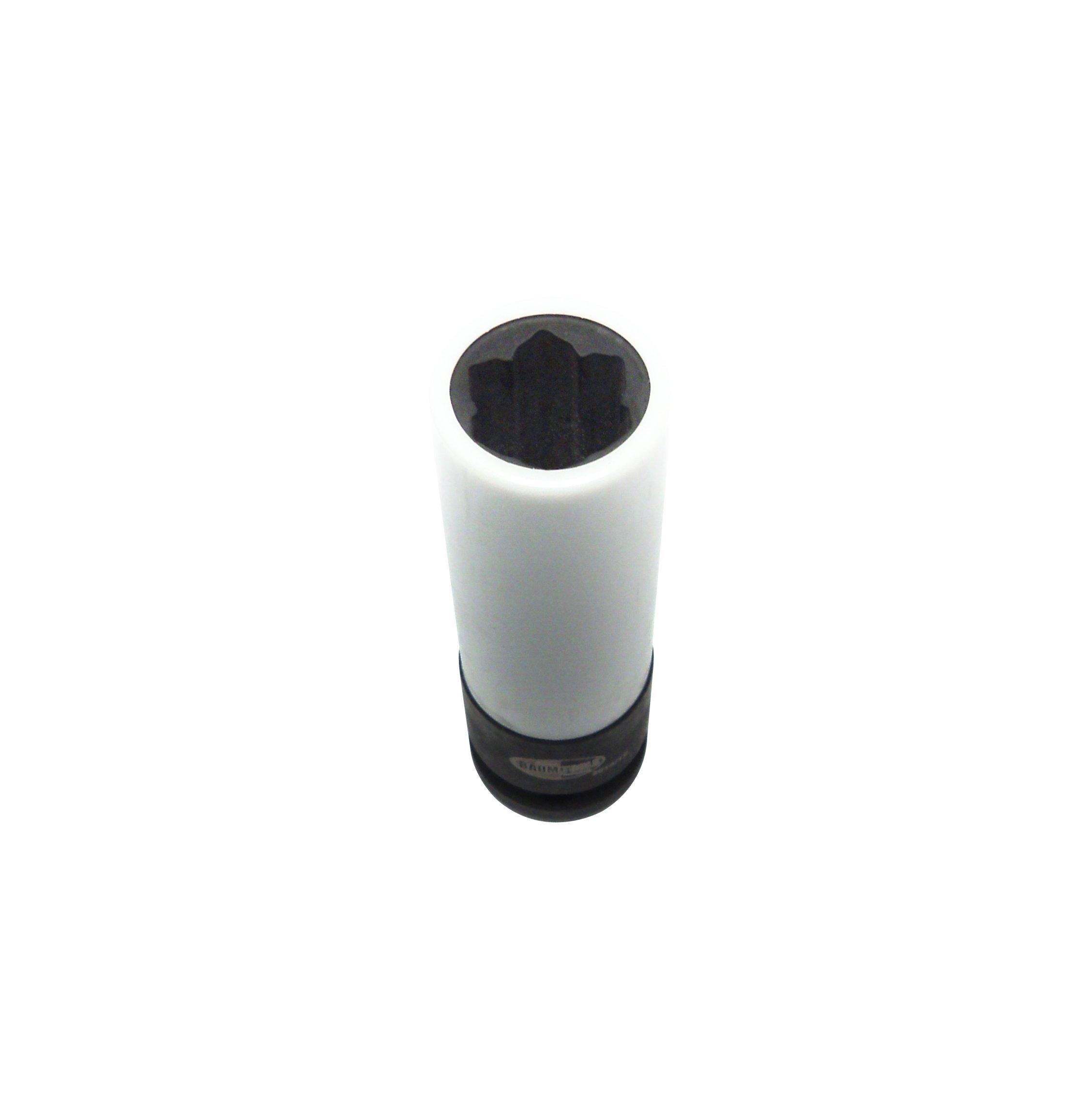 Baum Tools 000-5407PL Mercedes Benz 17mm Deep Convex Lug Bolt Socket with Plastic Sleeve