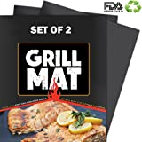Best BBQ Grill Mat - Heavy Duty 600 Degree Non-Stick Mats,Reusable, and Easy to Clean - Extended Warranty (2 pcs)