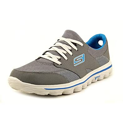 9a5ac30baf483d Skechers Go Walk 2-Stance Mens Gray Walking Shoes Size UK 7.5   Amazon.co.uk  Shoes   Bags