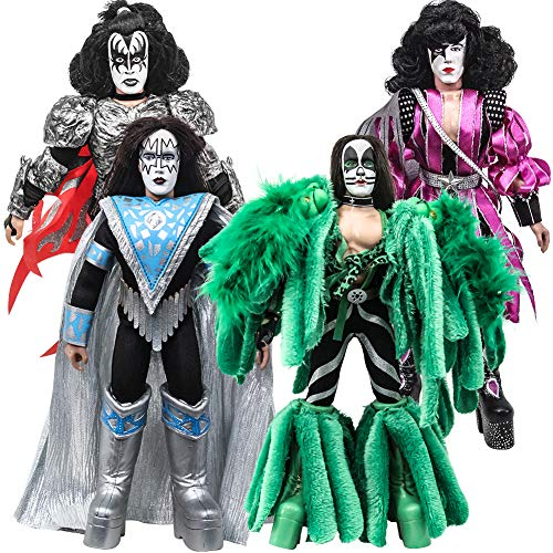 Figures Toy Company KISS 8 Inch Action Figures Series 8 Dynasty: Set of All 4 [Loose] Band Action Figure Set