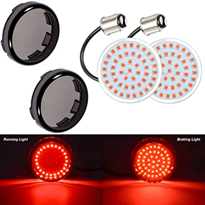 PBYMT 1157 Rear Turn Signal Light LED SMD Bulb with 2 Inches Bullet Smoke Lens Cover Compatible for Harley Sporster Dyna Touring Road King Street Electra Glide 1986-2020: Automotive [5Bkhe1011954]