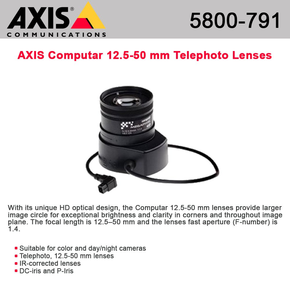 AXIS Communications 5800-791 Computar varifocal IR-corrected lens (5800-791)