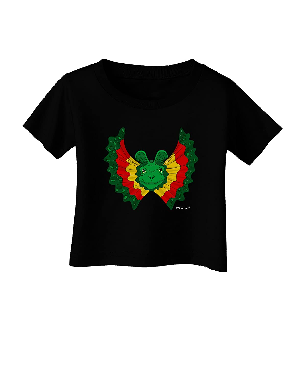 TooLoud Dilophosaurus Design Color Infant T-Shirt Dark