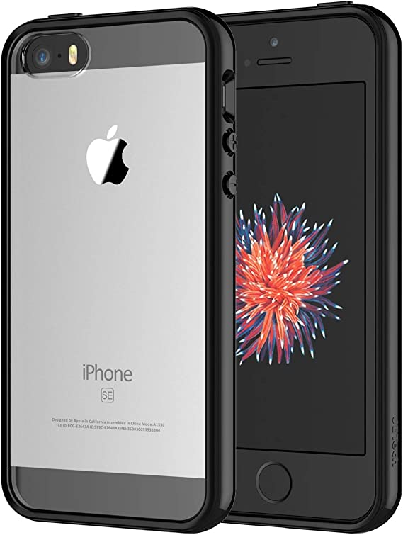 Amazon Com Jetech Case For Iphone Se 2016 Not For 2020 Iphone 5s And Iphone 5 Shockproof Bumper Cover Anti Scratch Clear Back Black