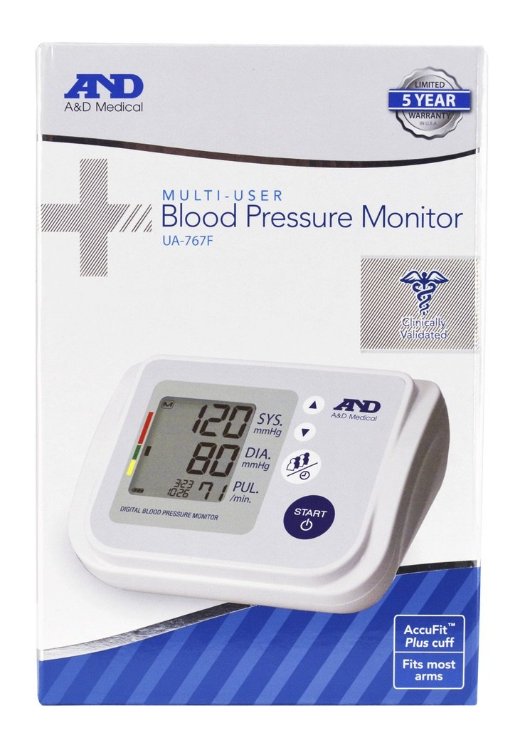 A&D Medical Multi-User Blood Pressure Monitor (UA-767F)