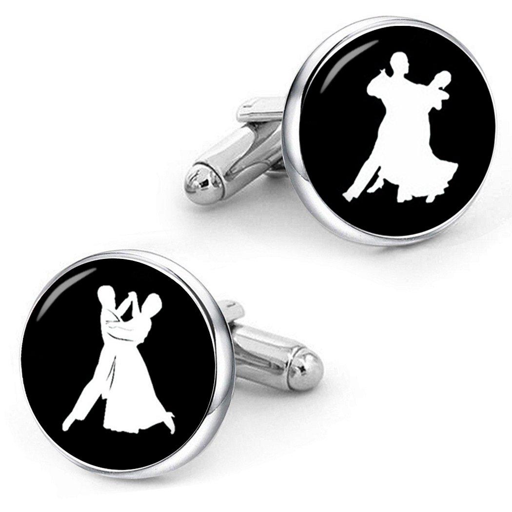 Kooer Waltz Dancer Cufflinks Custom Personalized Cuff Links Waltz Jewelry Vintage Handmade Cuff Links