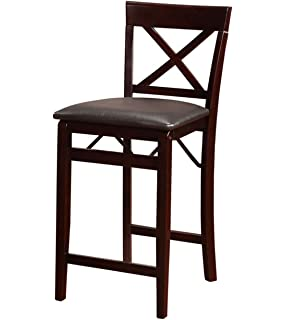 Attirant Linon Triena X Back Folding Counter Stool