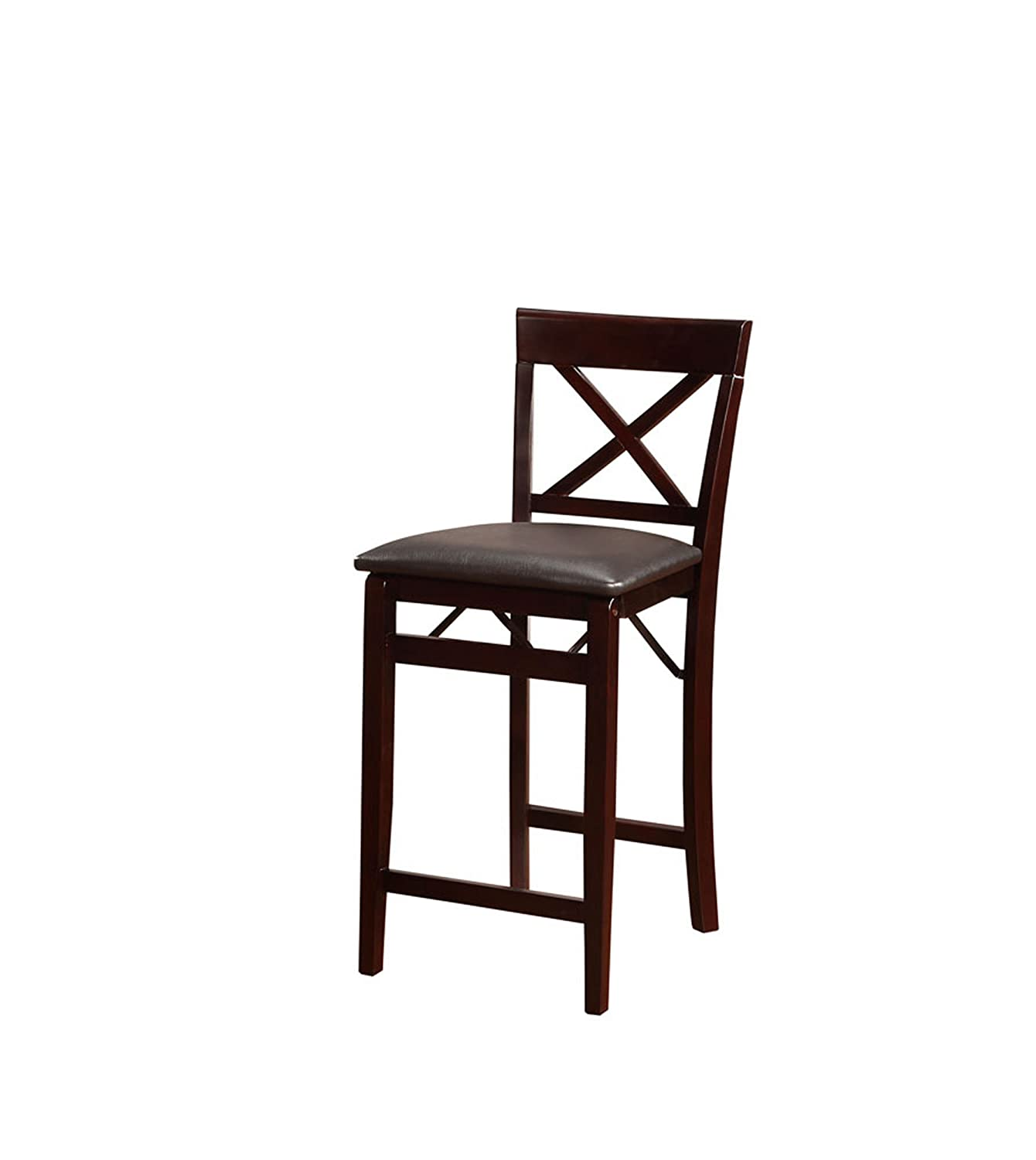 Amazon Linon Triena X Back Folding Counter Stool Kitchen