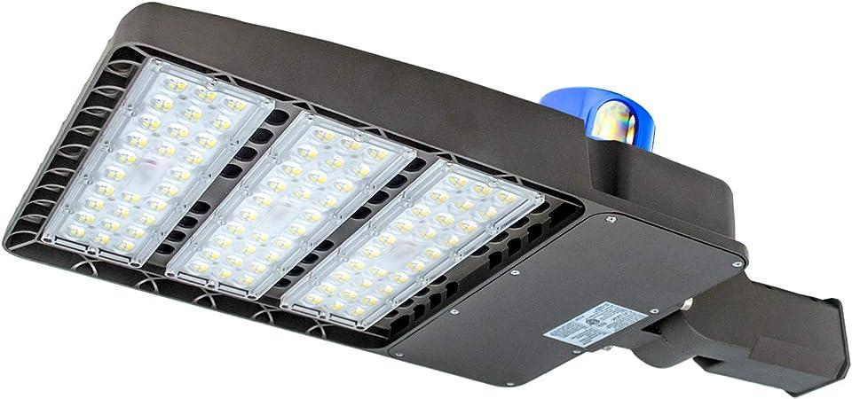 Led Parking Lot Lighting 300w 100 277v Led Shoebox Area Light 5500k Daylight White 36000 Lumens 1000w Metal Halide Equivalent 300w Slip Fit