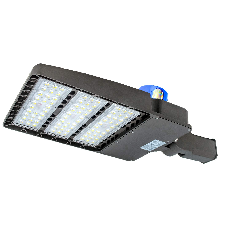 LED Parking Lot Lighting 300W,100-277V LED Shoebox Area Light, 5500K Daylight White,36000 Lumens,1000W Metal Halide Equivalent (300W Slip Fit)