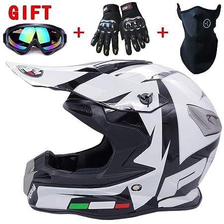 Wwtoukui Casco de Motocross Adultos con Gafas, Guantes, máscaras ...
