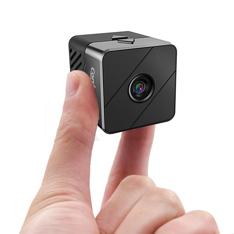 Conbrov 小型動体検知カメラ 隠し暗視ビデオカメラ コンパクトモニター 1080P 10M赤外線映像録画 充電しながら撮影 オフィス/屋内用 B079L4JD49  T33-黒