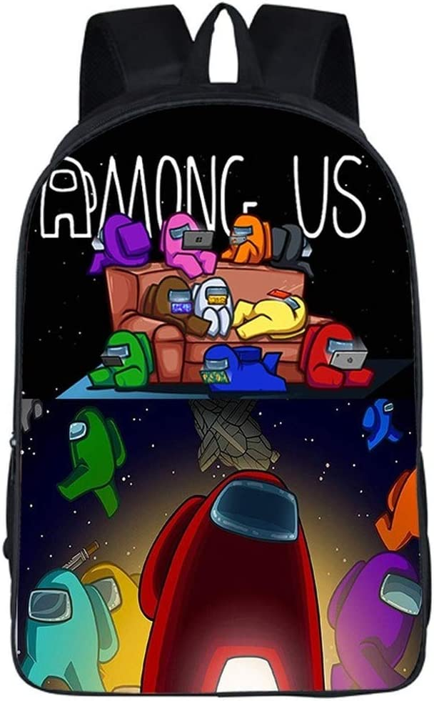 Among Funny us Cute School Backpack Bags 3D Print School Bag Creative Bookbag for Unisex Travel Daypack