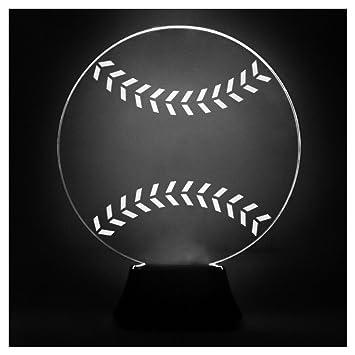 Amazon.com: Béisbol acrílico lámpara LED | Lámparas de ...