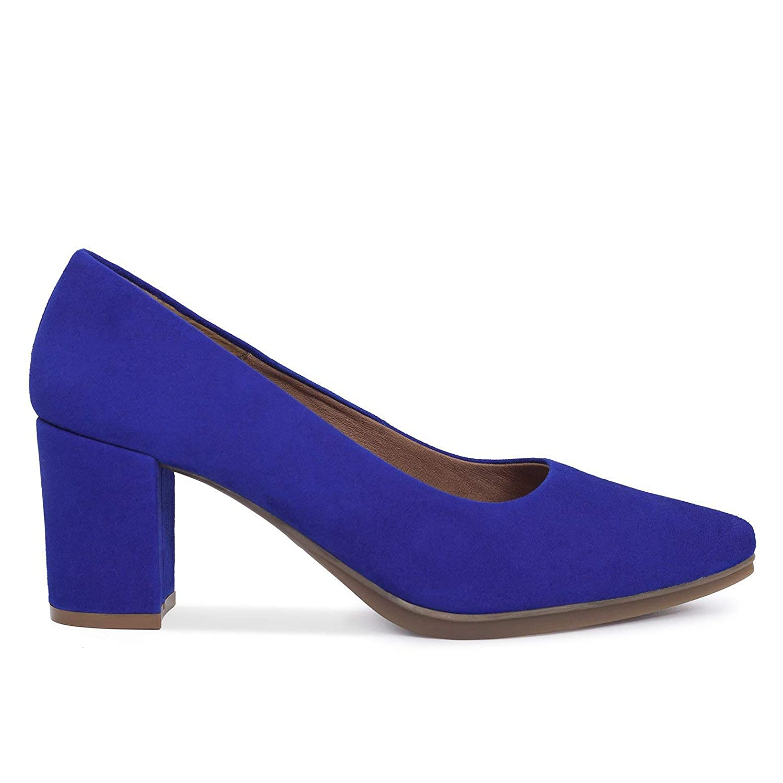 Zapatos Salón. Zapatos Piel Mujer Hechos EN ESPAÑA. Zapatos Tacón Azul. Zapato Mimao. Zapatos Mujer Tacón. Zapatos Mujer Fiesta y Baile Latino. Zapato Cómodo Mujer con Plantilla Confort Gel