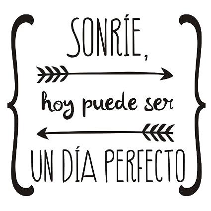 Spanish Wall Sticker Sonríe Hoy Puede Ser Un Dia Perfecto