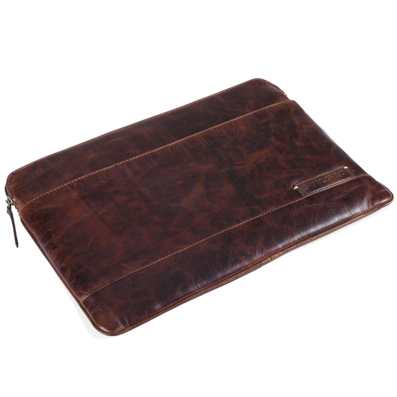 STILORD Robb Funda de Piel Estilo Vintage para Tablet o MacBook de 14 y portátil de 13,3 Portafolio Bolso o Bolsa Protectora de auténtico Cuero, ...