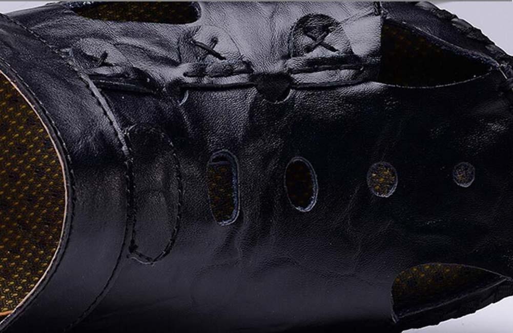 Pumpe Männer Geschlossene Zehe Draussen Sport Sandalen Sandalen Sandalen Hausschuhe Hohl Leder Dual-Use Rutschfest Weiche Sohle Strand Sandalen Lässige Schuhe Turnschuhe Eu Größe 38-44 1fe66a