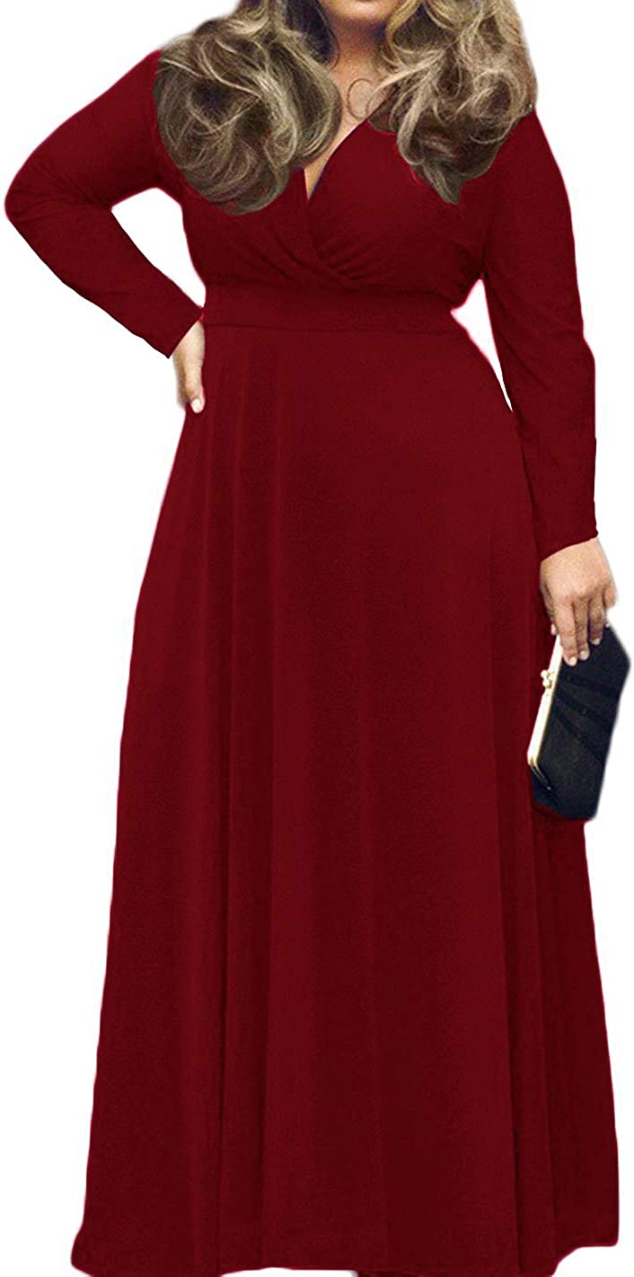 Oversized S-3XL Womens Loose Casual Long Dress Print Party Evening Maxi Sundress