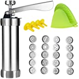 Cookie Press,Spritz Cookie Press Gun Kit, DIY Biscuit maker and Churro Maker with 20 Decorative Stencil Discs and 4…