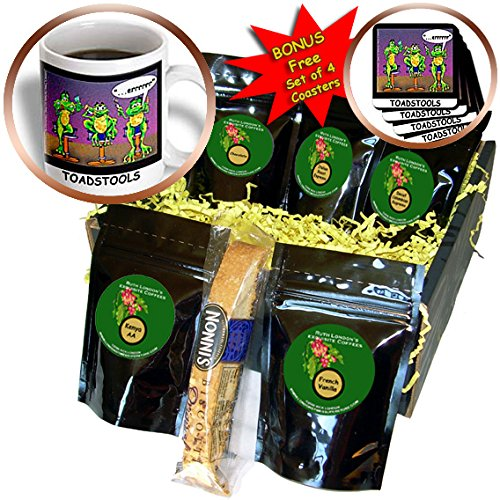 Londons Times Funny Animals Cartoons - Toadstools Frogs Who Drink Too Much - Coffee Gift Baskets - Coffee Gift Basket -