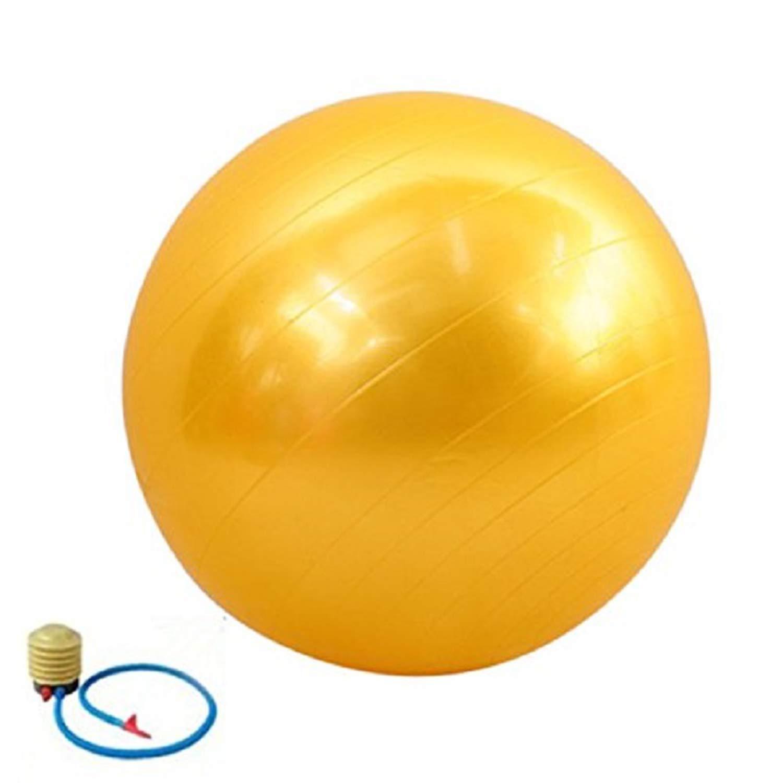 YELLOW 85Cm PVC Unisex Yoga Balls for Fitness with 4 color Female Pilates Balls Gymnastic Balls Balance Ball+Free Pump Air