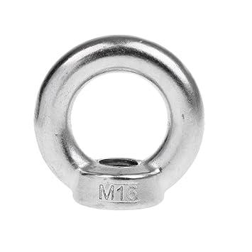 M16 x 150 mm FITYLE Edelstahl Ringschrauben Augenschrauben