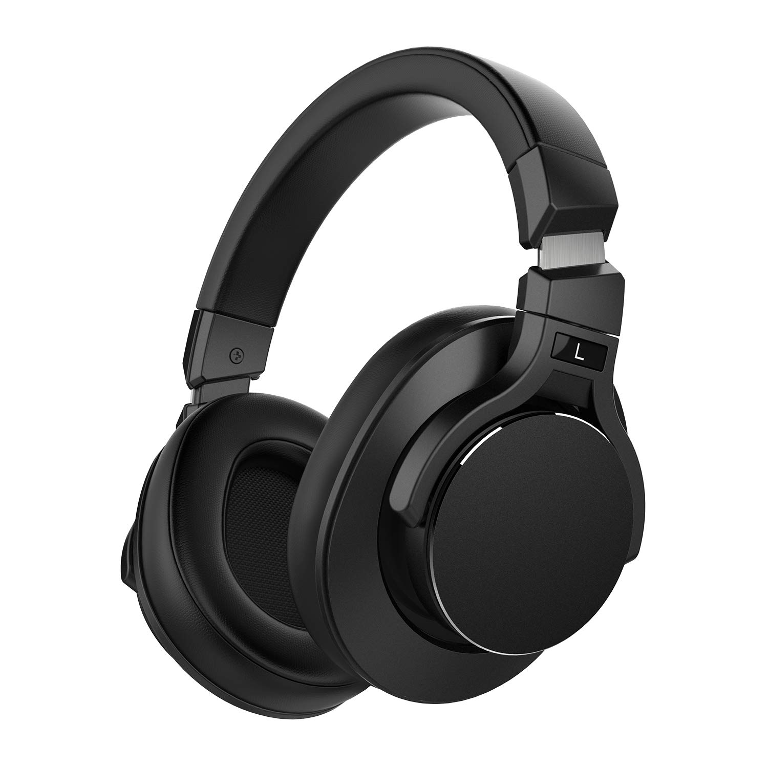 Mixcder E8 Active Noise Cancelling Headphones, Wireless Bluetooth Headphones Over Ear with Microphone, Stereo Sound, Deep Bass, Portable Design, 20H Playtime for Travel, TV, PC, Phones – Black