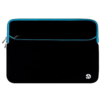 """Water Resistant Laptop Tablet Sleeve Pouch Cover 14"""" to 15.6"""" for Toshiba Satellite Fusion 15 / Tecra C Series / Tecra Z Series / Fujitsu LIFEBOOK / MSI GS63VR Stealth Pro"""