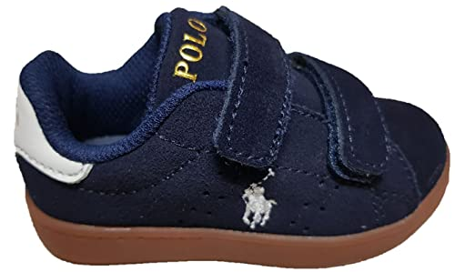 Polo Ralph Lauren Niños Zapatillas de Gimnasia Azul Size: 22: Amazon.es: Zapatos y complementos