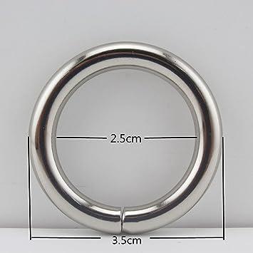 7 anillos de hierro O de diferentes tamaños para correas de hebilla, cinturón, bolso