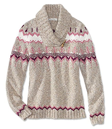 Orvis Women's Fair Isle Shawl-Collar Sweater, Small