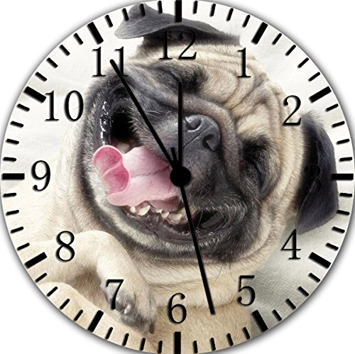 Cute Pug Wall Clock