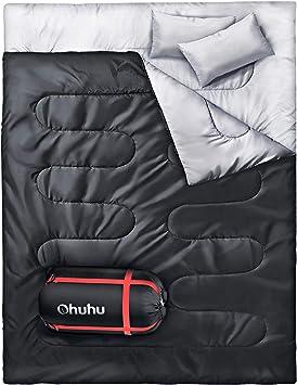 Amazon.com: Ohuhu Saco de dormir doble con 2almohadas ...
