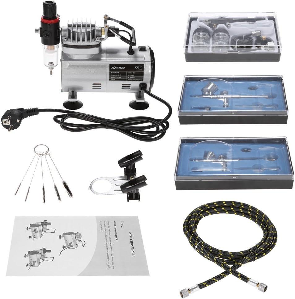 Kit Aerógrafo de maquillaje facial + compresor y accesorios