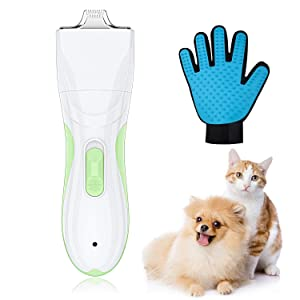 TURN RAISE Pet Grooming Clipper, Rechargeable Cordless Cat and Dog Clippers, Low Noise Electric Pet Trimmer, Pet Clipper for Trimming The Hair Around Face, Eyes, Ears, Paw, Rump