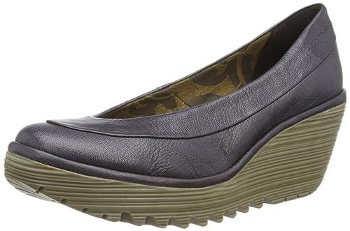 Fly London Womens Yoko Deep Purple Court Shoes P500335026 3 UK