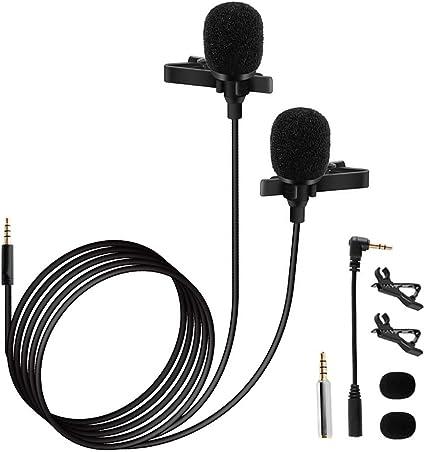 Muslady - Micrófono de condensador con clip Omni direccional ...