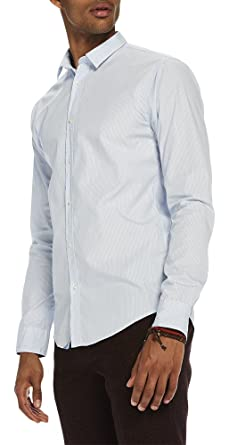 Scotch   Soda Crisp Shirt   Slim Fit, Chemise Casual Homme, Multicolore  (Combo 8017be1c4eb7