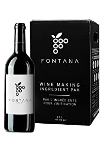 Fontana Wine Making Kit   6 Gallon Wine Kit   Premium Ingredients for DIY Wine Making, Makes 30 Bottles of Wine (French Cabernet Sauvignon)