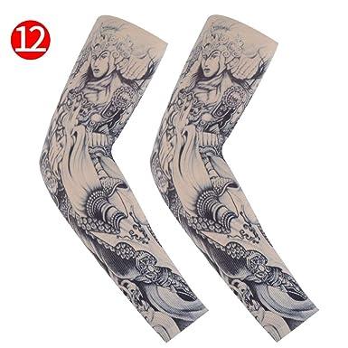 1 par de mangas de tatuaje para hombres y mujeres Moda Completi ...