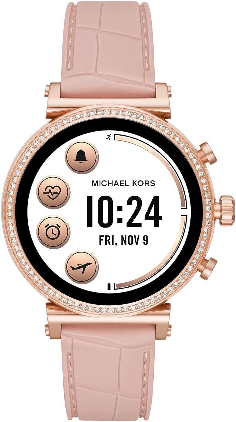 Michael Kors Reloj de bolsillo Digital para Mujer de Digital con Correa en Silicona MKT5068: Amazon.es: Relojes