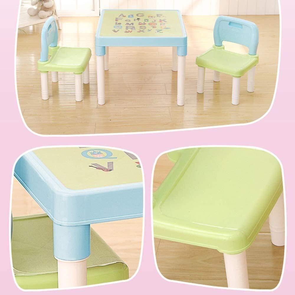 LYYJIAJU Skrivbord för barn barn skrivbord och stol barnbord barn skrivbord och stol barn konst målning skrivbord lätt att radera för vardagsrum sovrum (färg: blå) Rosa
